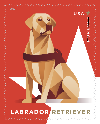Fox Red Labrador stamp